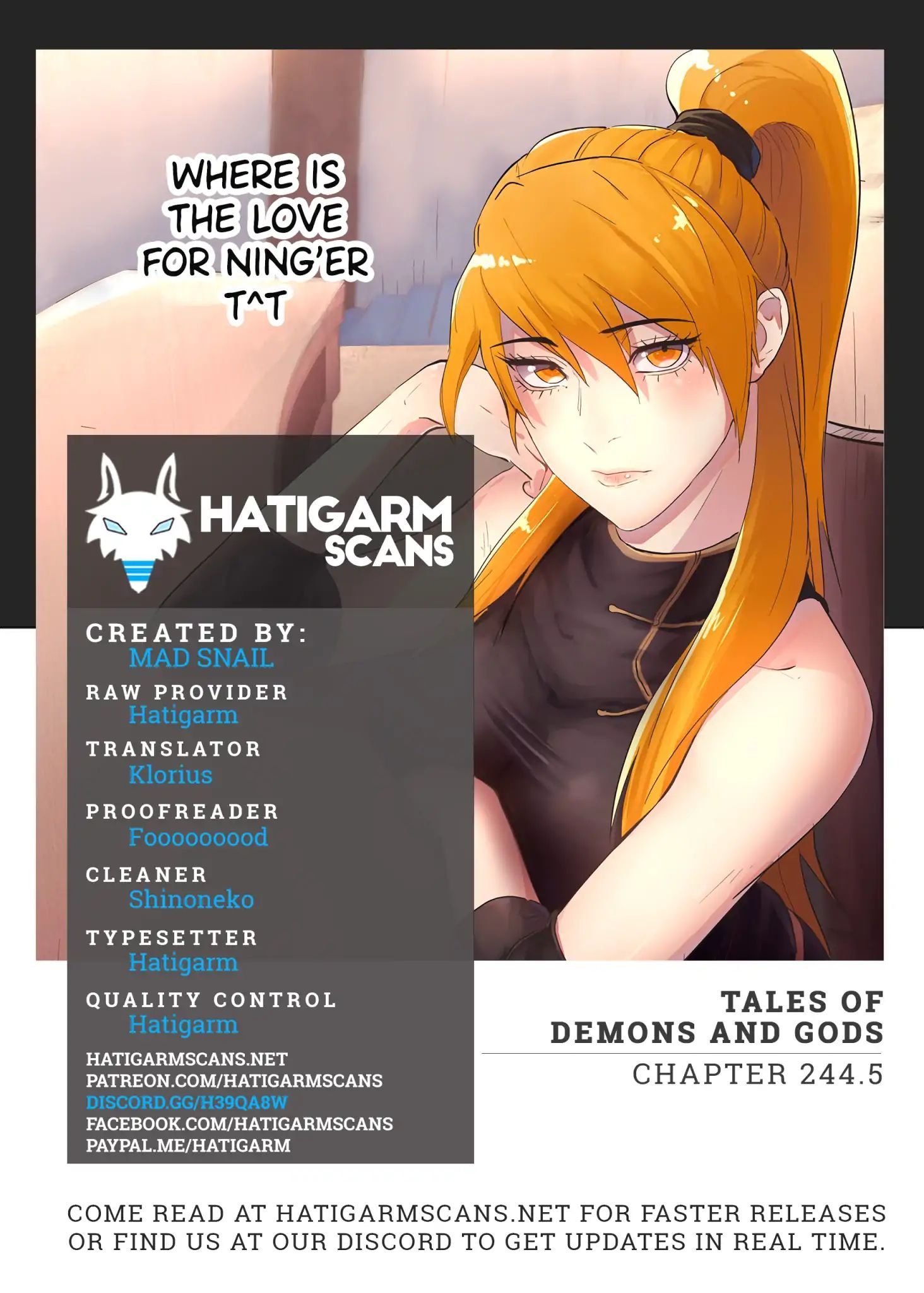 Manga Tales Of Demons And Gods - Chapter 244.5 Page 1