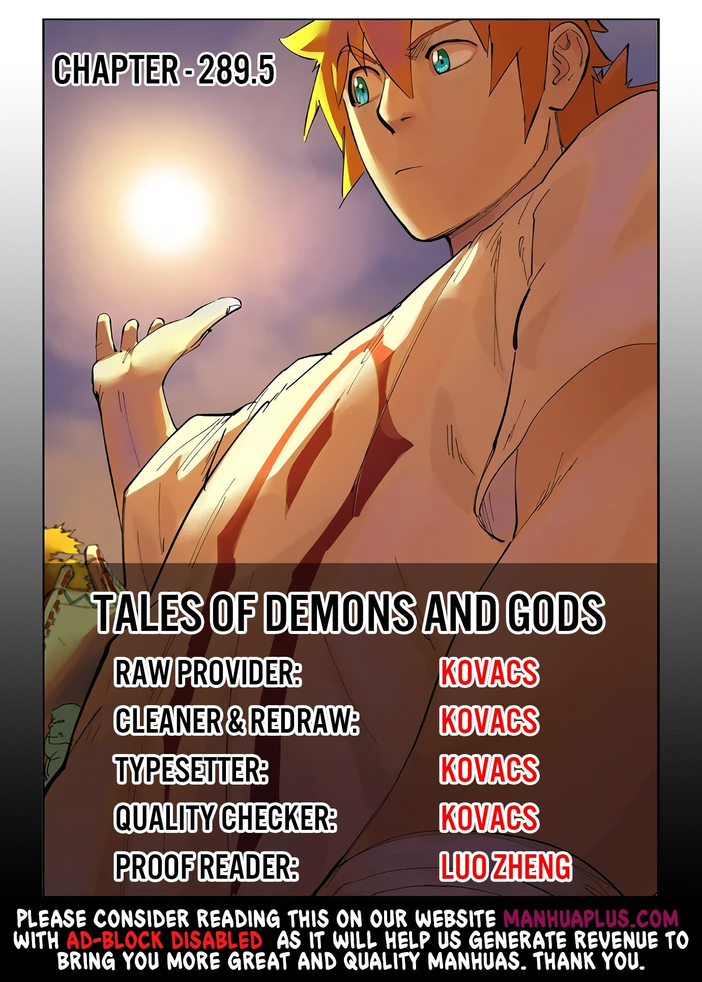 Manga Tales Of Demons And Gods - Chapter 289.95 Page 1