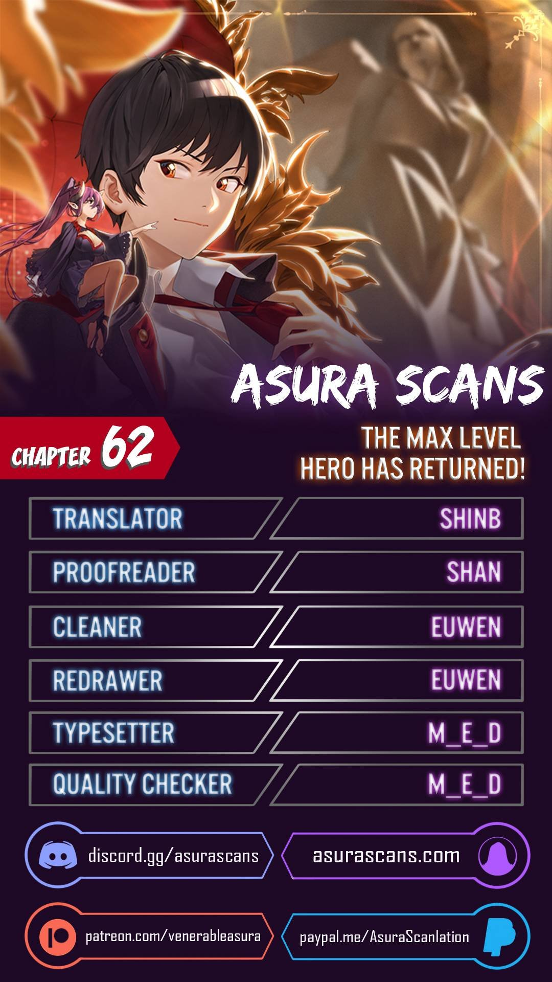 Manga The Max Level Hero Has Returned! - Chapter 62 Page 1